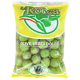 【美味いオリーブを探してるならこれ!】ラロッカ グリーンオリーブ大粒(種有) 500g