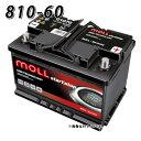 810-60 モル MOLL 81060 自動車 用 AGM バッテリー 2年保証 車 送料無料
