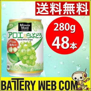 ミニッツメイド アロエ&白ぶどう 280g缶 48本 (24本×2ケース 2箱)