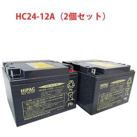 日本製 国産 HC24-12A 2個セット 日立 昭和電工マテリアルズ 日立化成 ( 新神戸電機 ) 小型制御弁式鉛蓄電池 HCシリーズ バッテリー UPS 無停電電源 電動車椅子 無人搬送車 ソーラーシステム HC24ー12A 送料無料