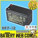 あす楽 日本製 国産 HF7-12 F1(187) F2(250) 日立 日立化成 ( 新神戸電機 ) 小型制御弁式鉛蓄電池 バッテリー UPS 無停電電源 CATV 防…