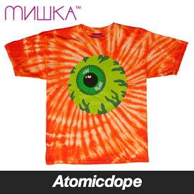 【送料無料】MISHKA Keep Watch Tie Dye Tシャツ タイダイ 半袖 橙 T-Shirt Orange ミシカ