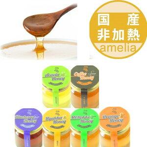 世界のはちみつ 日本製はちみつ お試しセット 非加熱 ハチミツ 天然はちみつ 125g 6本セット アメリア お試し ハニー HONEY 蜂蜜 瓶詰 国産蜂蜜 国産ハチミツ 送料無料