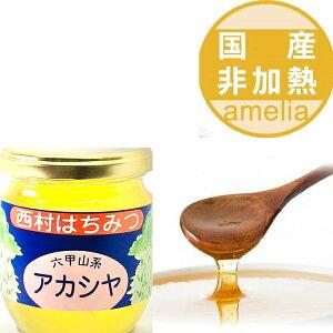 国産 自家製 アカシア蜂蜜 250g 兵庫県産 六甲山 楽天シニア市場 国産 蜂蜜 はちみつ ハチミツ 瓶詰 非加熱 無添加 ハニー