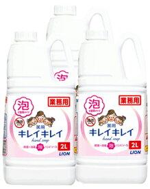 【送料込】【医薬部外品】業務用キレイキレイ薬用泡ハンドソープ2リットル×3本 + 専用容器2個