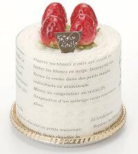タオルマフラーケーキ:ホワイトガナッシュ:イチゴ