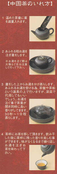 お茶の入れ方説明