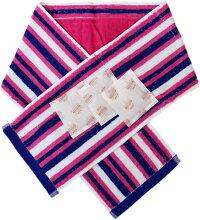 ポケット付クールタオルマフラー:ピンク:保冷剤付