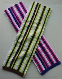 ペア保冷剤・ポケット付クールタオルマフラー:ピンクとグリーンセット