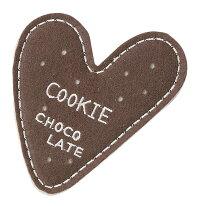 ハート型クッキーコースター:チョコ4枚セット