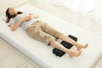 ゲルマニウム低反発足枕:広げて足乗せたイメージ