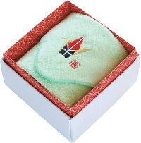 タオルハンカチ:縁起物!折り鶴刺繍