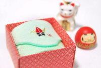 タオルハンカチ:縁起物!折り鶴