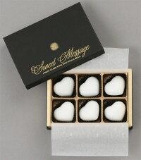 ハート型ホワイトチョコソープ6個セット