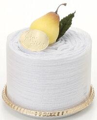 タオルマフラーケーキ:クリーミームース:トルマリン加工パープル