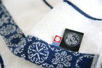 紀尾井伊勢型紙江戸の粋雪華文様タオル