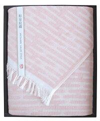 山本寛斎の和泉紋織ガーゼストール:ピンク(化粧箱はありません)