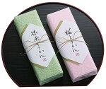タオル和菓子:桜ようかんと抹茶ようかん(お盆は無しです)