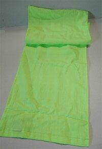 日本製蛍光ジョギングタオルマフラー:グリーン全体