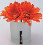 アートフラワー:ガーベラ:フロストグラスS:オレンジ