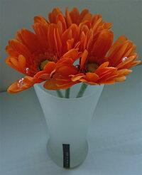 アートフラワー:ガーベラ:フロストグラスLサイズ:オレンジ