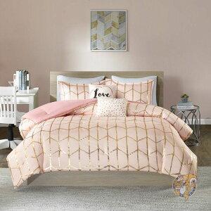 【4点set】寝具セット シーツ カバー ツインサイズ Blush/Gold アメリカ輸入家具 アメリカ雑貨 高級感 アメリカン ベッドシーツ 寝具