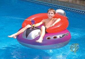 水鉄砲付き 浮き輪 スイムライン Swimline 円盤型 UFO ボート シューティングガン ボート浮き輪 プール 海 パーティー 並行輸入