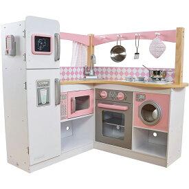 KidKraft キッドクラフト おままごと コーナーキッチン ピンク