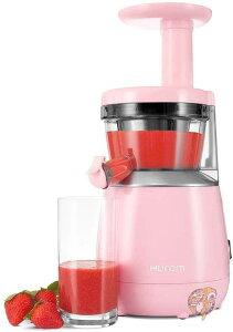 ヒューロム スロージューサー HUROM HP 低速ジューサー 酵素 栄養 野菜 フルーツ ピンク