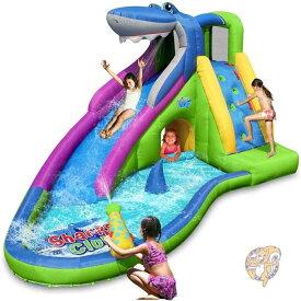 家庭用プール ウォーターパーク 大型プール 滑り台 ウォータースライダー シャークウォータースライド ACTION AIR すべり台 公園 遊具 庭遊び 水遊び アメリカ輸入おもちゃ