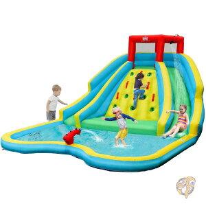 家庭用プール 巨大滑り台 ウォータースライド BOUNTECH スライダー 大型プール ビニールプール 公園 庭遊び 水遊び すべり台 滑り台 ウォーターパーク アメリカ輸入おもちゃ