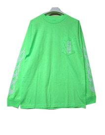 CHROME HEATRSクロムハーツファイヤーパターンロングスリーブTシャツ green XXLサイズまで