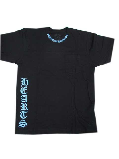 CHROME HAERTSクロムハーツTシャツ blue文字