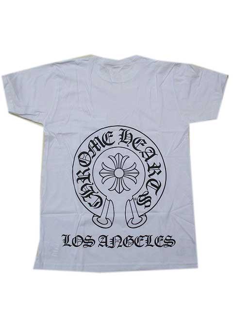 CHROME HEARTS クロムハーツ ロサンゼルス限定ホースシューTシャツwhite