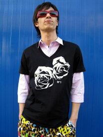 JOYRICH TWIN ROSE TEE S/S TEE Tシャツ BLACK