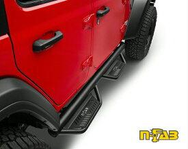 n-FABJL 新型ラングラーPODIUM LG & SS STEPSサイドステップテクスチャードブラック4ドア車専用