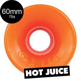 【OJ WHEELS オージェイウィール】60mm HOT JUICE 78A WHEELS ORANGEソフトウィール クルーザー ホットジュース オレンジ スケートボード スケボー sk8 skateboard
