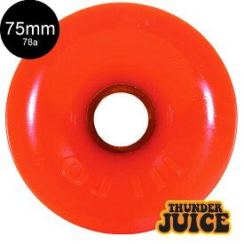 【OJ WHEELS オージェイウィール】75mm THUNDER JUICE 78A WHEELS ORANGEソフトウィール クルーザー サンダージュース オレンジ スケートボード スケボー sk8 skateboard【2009】