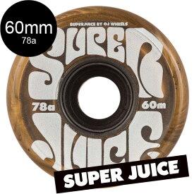 【OJ WHEELS オージェイウィール】60mm SUPER JUICE 78A WHEELS GOLDソフトウィール ゴールド スーパージュース ホットジュース クルーザーロングボード 金 移動 通勤 通学 スケートボード スケボー sk8 skateboard【1905】