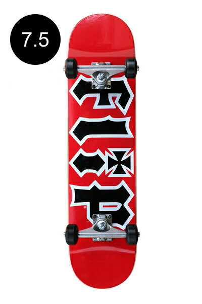 【FLIP フリップ】Team HKD Red Regular 7.5×31.25inch Completeアメストオリジナルコンプリートデッキ(完成組立品)※12歳以上推奨 スケートボード スケボー ストリート sk8 skateboard 良品