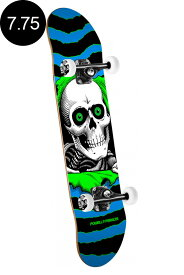 【POWELL PERALTA パウエル・ペラルタ】7.75in x 31.75in RIPPER ONE OFF COMPLETE BLUE/GREENコンプリートデッキ(完成組立品)スケートボード スケボー skateboard sk8【1904】