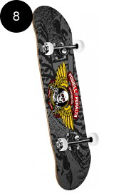 【POWELL PERALTA パウエル・ペラルタ】8.0in x 32.125in WINGED RIPPER COMPLETE BLACK/GREYコンプリートデッキ(完成組立品)スケートボード スケボー skateboard sk8【1809】