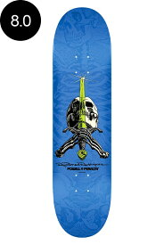 【POWELL PERALTA パウエル・ペラルタ】8.0in x 31.45in RODRIGUEZ SKULL AND SWORD BLUE DECKデッキ レイ・ロドリゲス スケボー ストリート sk8 skateboard【1805】