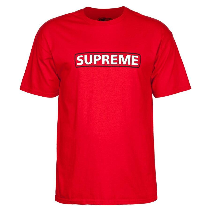 【POWELL PERALTA パウエル・ペラルタ】SUPREME S/S T-SHIRT REDTシャツ レッド シュプリーム スケートボード スケボー sk8 skateboard オールドスクール【18FW】(CP)