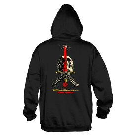 【POWELL PERALTA パウエル・ペラルタ】SKULL AND SWORD HOODED SWEATHSIRT BLACKスウェットフード ブラック パーカー レイ・ロドリゲス スケートボード スケボー sk8 skateboard オールドスクール【18FW】(CP)