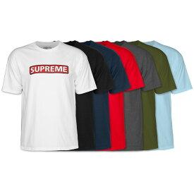 【POWELL PERALTA パウエル・ペラルタ】SUPREME S/S T-SHIRTTシャツ シュプリーム スケートボード スケボー sk8 skateboard ストリート ファッション おしゃれ オールドスクール【20SS】(CP)
