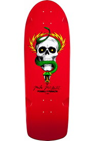 【POWELL PERALTA パウエル・ペラルタ】MIKE MCGILL SKULL AND SNAKE RED DECK 10 x 30.125デッキ マイク・マクギル スケボー ストリート sk8 skateboard