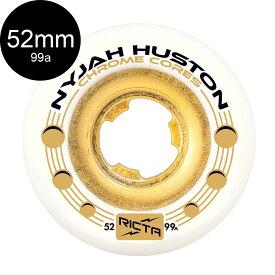 【RICTA リクタ】52mm NYJAH HUSTON CHROME CORE 99A WHEELSウィール クロームコア ナイジャ・ヒューストン スケートボード スケボー sk8 skateboard【1906】