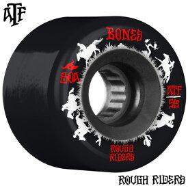 【BONES WHEELS ボーンズ ウィール】59mm ROUGH RIDER WRANGLERS 80A BLACK WHEEL(4pack)ソフトウィール ブラック ラフ・ライダー クルージング クルーザー スケートボード スケボー sk8 skateboard【2011】