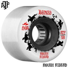 【BONES WHEELS ボーンズ ウィール】59mm ROUGH RIDER WRANGLERS 80A WHITE WHEEL(4pack)ソフトウィール ホワイト ラフ・ライダー クルージング クルーザー スケートボード スケボー sk8 skateboard【2011】